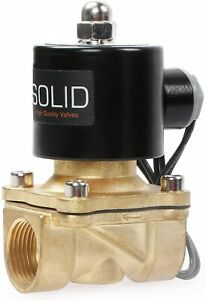 U.S. Solid 3/4 Inch G 24 V DC Brass Solenoid Valve Direct Controlled for Water &