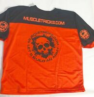 Muscle Gym Rag Top Gasp Bodybuilding Football Style Wow Gasp T-Shirt Orange