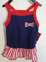 NEW American Kennel Club Select Dog shirt red white and blue DRESS ~ Small