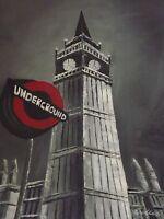 London Underground Large Oil Painting Canvas Cityscape Contemporary Original Art