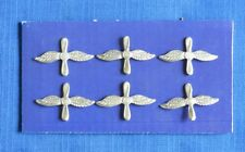 Soviet Russian Air Force PILOT Uniform Collar TAB Pin BADGE 6 pcs.