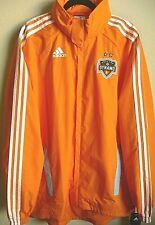 MLS Adidas Houston Dynamo Soccer Hooded Rain Jacket L NWT