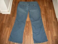 WOMENS CATO BOOT CUT STRETCH JEANS SIZE 16P FLAP POCKETS