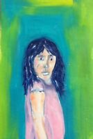HINKLE woman oil painting expressionism original fauvism modern art outsider