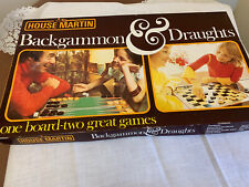 Vintage House Martin Backgammon And Draughts