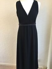 Noa Noa Black Jersey Empire Maxi Dress Sz M  UK 10/12