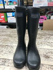 Pendleton Ladies Women's Classic Tall Waterproof Rubber Rain Boots ~ Black