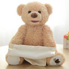30cm Peek a Boo Teddy Bear Play Hide Seek Lovely Cartoon Stuffed Kids Birthday