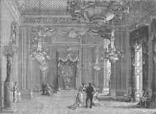 BUCKINGHAM PALACE. The throne-room, Buckingham Palace. London c1880 old print