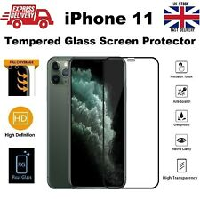 Full Apple iPhone 11 Edge to Edge Curved Glass LED Screen Saver Protector Black