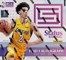 2017-18 Panini Status Basketball sealed hobby box 10 packs of 6 NBA cards 1 auto