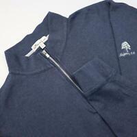 Men Peter Millar Blue Pullover Sweat Shirt Golf Jacket Size Large L Long Sleeve