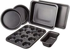 6 Piece Bakeware Set Pan Nonstick Baking Cake Pans Non Stick Cookie Oven Bake