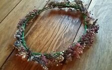 Fatto a mano floreale Circlet Nozze Fiore Per Capelli Lavanda Gyp CORONA Nuziale Halo essiccati