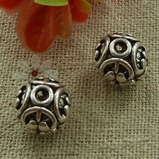 free ship 100 pieces tibetan silver nice hollow spacer beads 12x10mm #2728