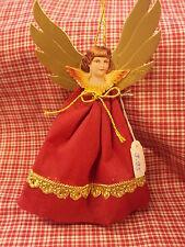 Rauschgoldengel - Weihnachtsschmuck, rot
