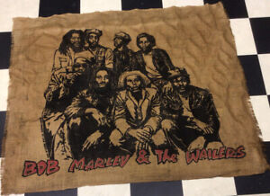 "54""x40 Bob Marley & The Wailers 1981 Promotional Burlap Poster (See The History)"