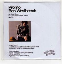 (GI226) Ben Westbeech, So Good Today - 2006 DJ CD