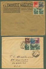 Due lettere per gli U.S.A. del 22.10.1946 e 3.3.1949.