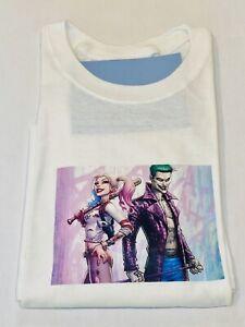 Brand New Joker and Harley Quinn Short Sleeve Crew Neck Unisex T-Shirt