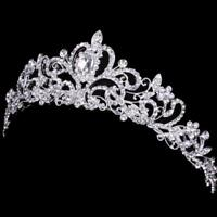 Bridal Bridesmaid Wedding Prom Crystal Rhinestone Diaman Crown Tiara Sale Best