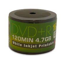 50 PACK AONE BLANK MEDIA DVD+R DISCS 16x SPEED 4.7GB FULL FACE PRINTABLE