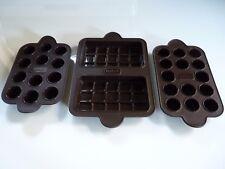 3 TEFAL CHOCOLATE MOLDS OR CHRISTMAS ICE CUBE TRAYS, SEE PHOTOS