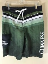 Mens Guinness Green Black Swimming Suit Board Shorts M