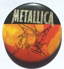 METALLICA Ninja Old Vtg 1990`s Button Pin Badge 25mm (NOT patch shirt)