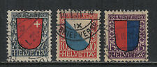 Switzerland 1920 Pro Juventute--Attractive Heraldry Topical (B15-17) fine used