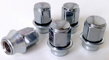 Ford Ghia alloy wheel Sleeve nuts with washer. Set of 5 x M12 x 1.5 19mm Hex