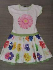 Monnalisa Girls Dress Floral  Bright Flowers Age 10 Years