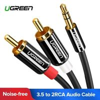 Ugreen 2M Cinch Kabel 3.5mm Klinke auf 2 Cinch Y Splitter Audiokabel für iPhone