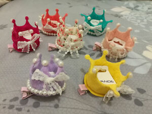 NEW Vogue Crown Hair Clips Kids Candy Color lady Hairpins for Baby Girls gift