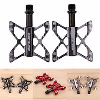 9/16 in Bicycle Pedal 3 Bearings Flat Pedals MTB BMX Road Bike Racing Pedals