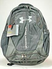 Under Armour Unisex US Hustle 3.0 School Backpack Black White NWT