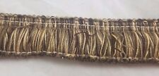 Chenille Brush Fringe Sewing Trim Notions 1.5 inches wide x 3+ yards Beige Brown