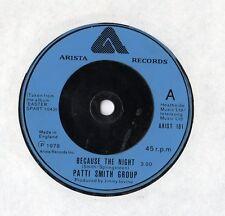 """Patti Smith Group - Because The Night 7"""" Single 1978"""