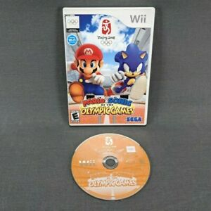 Mario & Sonic at the Olympic Games Nintendo Wii 2007 No Manual Tested