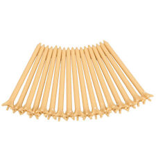 100 Pcs 80mm Pack Professional Frictionless Golf Tee Wheat Golf Tees Plastic、Fad