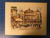 Paris Cafe de la Paise Unbekannter Künstler aquarell handsigniert H-10188