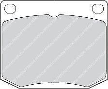 Ferodo FDB818 Front Axle Premier Car Brake Pad Set Replaces 8993263