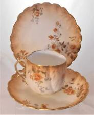More details for trio m redon france limoges hand painted coffee cup & saucer for h g stephenson