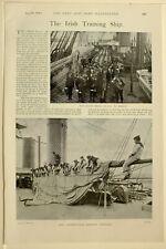 1898 Stampa Irlandese Formazione Navicella Battaglione Trapano Vela Istruzioni