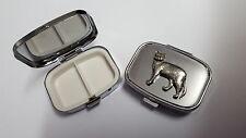 Burmese Cat PP-C04 English Pewter Emblem on a Rectangular Travel Metal Pill Box