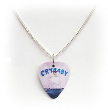 MELANIE MARTINEZ CRY BABY  guitar pick plectrum silver plated CHAIN NECKLACE 24""