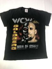 Vintage Goldberg Youth Large T Shirt 1999 WCW Man Of Steel Wrestling Black