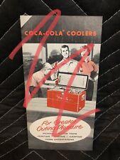 Vintage 1950's Coca Cola Hemp Picnic Cooler Salesman Sales Brochure Coke Bottle