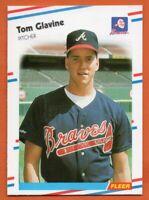 1988 Fleer #539 Tom Glavine ROOKIE RC Pack Fresh MINT Atlanta Braves FREE S/H
