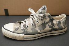 Vintage USA MADE Converse All Star Chuck Taylor Shoes 8 Low White Gray Camo Rare
